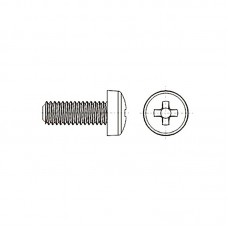 8G206 Винт М5* 30 цилиндр, крестовой шлиц, нейлон