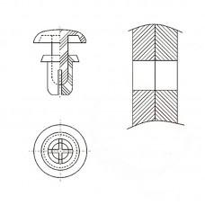 8G4023.5* 2.1 Пистон монтажный 3,5* 3,5 полукруг увеличенный, белый, нейлон (под панель 1,1-2,1)