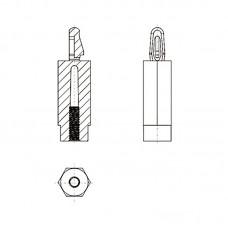 8G501М3* 23/1.7 Стойка М3* 23 с защелкой, нейлон (под панель 1,7 мм, SW=8)