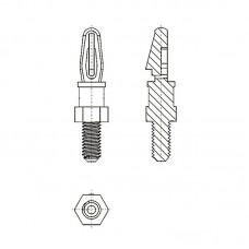 8G505М3* 11.1B Cтойка М3* 11,1 c защелкой D3 черный, нейлон (под панель 1,57 мм, SW=4,8)
