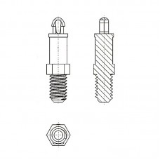 8G506М4* 11.1N Cтойка М4* 11,1 c защелкой D2,5 белый, нейлон (под панель 1,57 мм, SW=4,8)