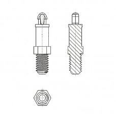 8G506М4* 12.7N Cтойка М4* 12,7 c защелкой D2,5 белый, нейлон (под панель 1,57 мм, SW=4,8)