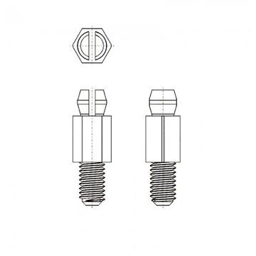 8G5076-32* 6.4B Cтойка 6-32* 6,4 с защелкой черный, нейлон (UNC)