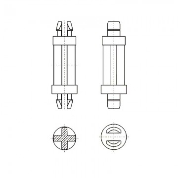 8G8014.8* 12.7B Фиксатор платы с защелкой 4,8* 12,7 черный, нейлон (под панель 1,6)