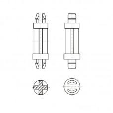 8G8014.8* 6.4N Фиксатор платы с защелкой 4,8* 6,4 белый, нейлон (под панель 1,6)
