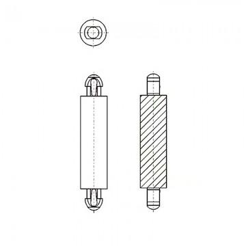 8G8062.5* 10.0 Фиксатор платы с защелкой 2,5* 10 (под панель 1,57)