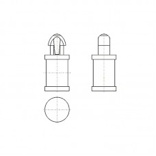 8G8092.5* 6.4V0 Фиксатор платы с защелкой 2,5* 6,4 (под панель 1,6)
