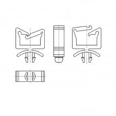 8GA10V60130 Фиксатор 4,75* 13 для кабеля (под панель 1,6)