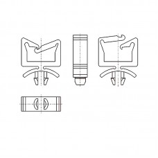 8GA10V60137 Фиксатор 4,75* 35,1 для кабеля (под панель 1,6)