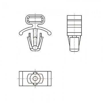 8GA14V60317 Фиксатор 6,35* 17,5 для кабеля (под панель 1,99-2,77)