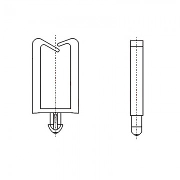 8GA16V60075 Фиксатор 1,75* 5,8 для кабеля (под панель 1,57)
