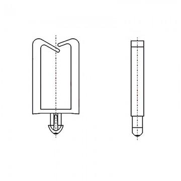 8GA16V60077 Фиксатор 1,75* 11,2 для кабеля (под панель 2,2)
