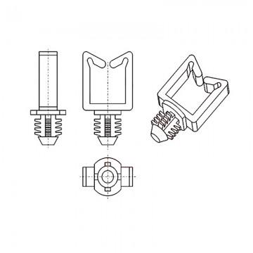 8GA17V60233 Фиксатор 7,9* 18,3 для кабеля (под панель 6,4)