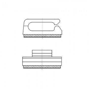 8GB01V60193 Зажим проводов на самоклеющейся площадке 12,7* 12,7* 0,8