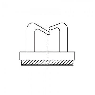 8GB02V60195 Зажим проводов на самоклеющейся площадке 9,5* 9,5* 0,8