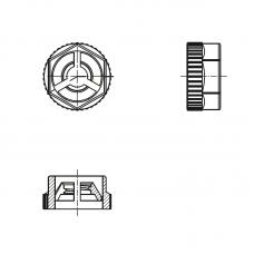 8GI03VKN40 Гайка М4 шестигранная, полиамид
