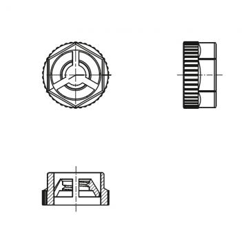 8GI03VKN50 Гайка М5 шестигранная, полиамид