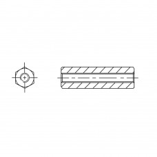 110* 10 Стойка 4-40* 10 шестигранная, латунь, никель (вн/вн, SW=5, UNC)