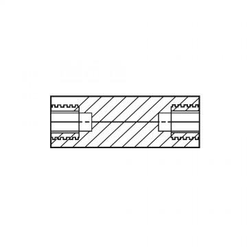 1181510* 25 Стойка М8* 25 полиамид, латунный сердечник (вн/вн, SW=15)