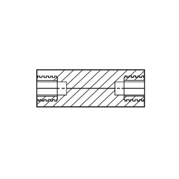 1183* 50 Стойка М3* 50 полиамид, латунный сердечник (вн/вн, SW=6)