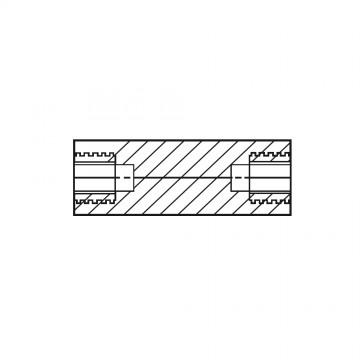 1186* 65 Стойка М4* 65 полиамид, латунный сердечник (вн/вн, SW=8)