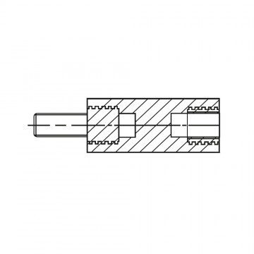 2183* 50 Стойка М3* 50* 56 полиамид с латунным сердечником (вн/нар, SW=6)