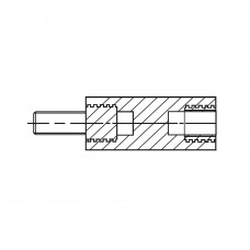 2186* 25 Стойка М4* 25* 33 полиамид с латунным сердечником (вн/нар, SW=8)