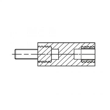 2186* 45 Стойка М4* 45* 53 полиамид с латунным сердечником (вн/нар, SW=8)