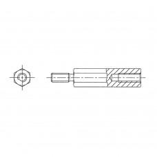 2212* 12 Стойка М2,5* 12* 18 шестигранная, сталь, цинк (вн/нар, SW=4)