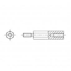 223* 40 Стойка М3* 40* 46 шестигранная, сталь, цинк (вн/нар, SW=5)
