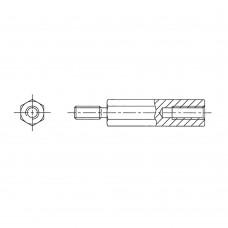 232* 08 Стойка М2,5* 8 шестигранная, алюминий (вн/нар, SW=5)