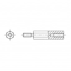 242* 60 Стойка М2,5* 60* 66 шестигранная, сталь нержавеющая (вн/нар, SW=5)