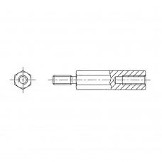 244* 18 Стойка М3* 18* 24 шестигранная, сталь нержавеющая (вн/нар, SW=5,5)