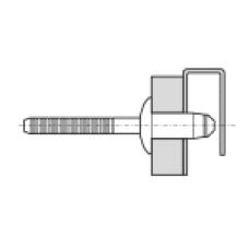 02221-00819 Заклепка вытяжная Hemlok 6,4* 21 полукруг, сталь, цинк (8,8 - 10,8)